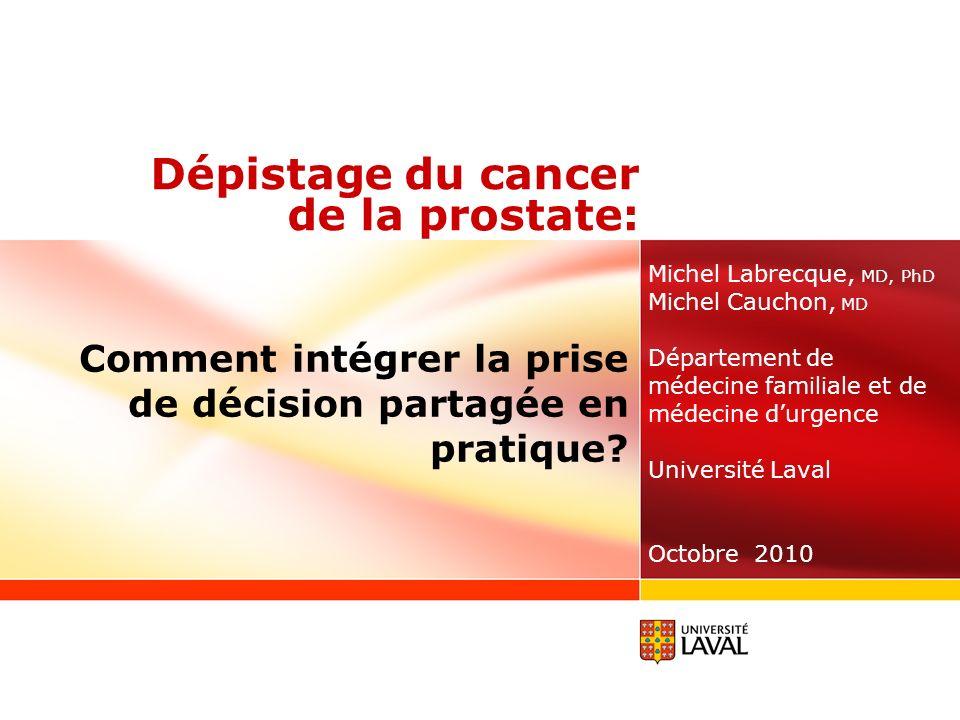 Dépistage du cancer de la prostate: