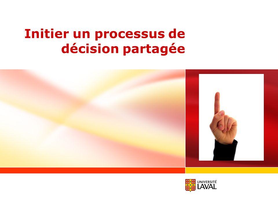 Initier un processus de décision partagée