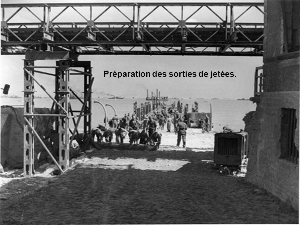 Préparation des sorties de jetées.