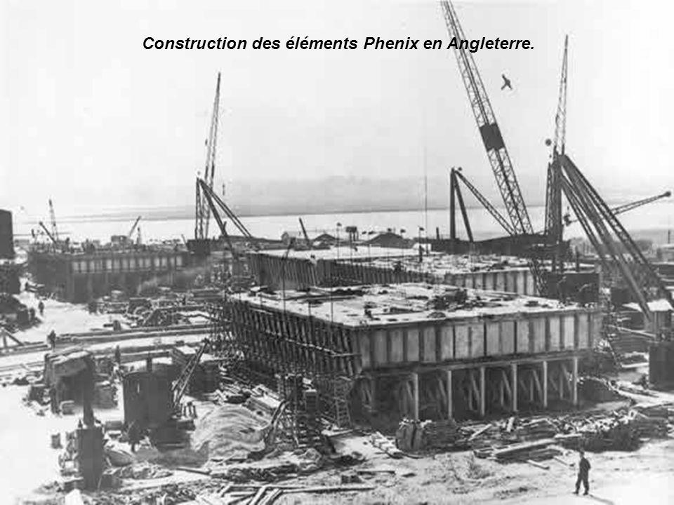 Construction des éléments Phenix en Angleterre.