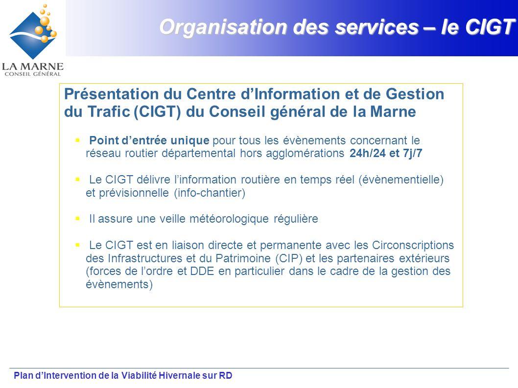 Organisation des services – le CIGT
