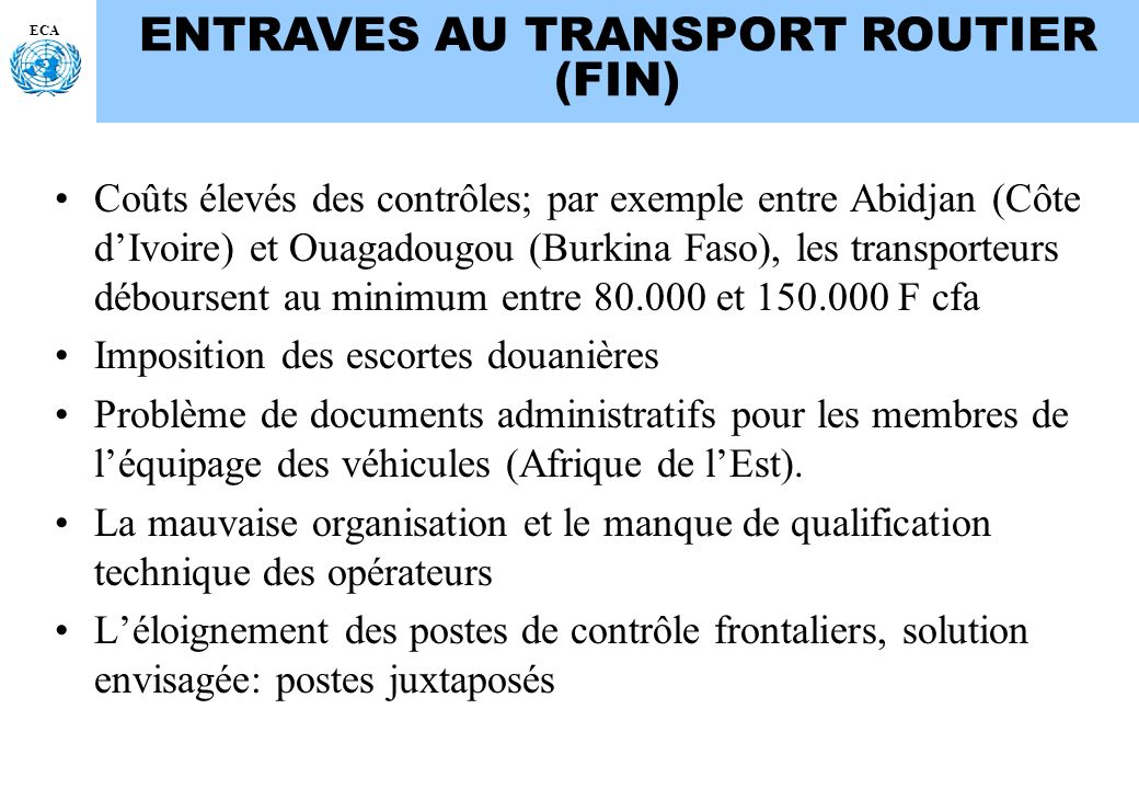 ENTRAVES AU TRANSPORT ROUTIER (FIN)