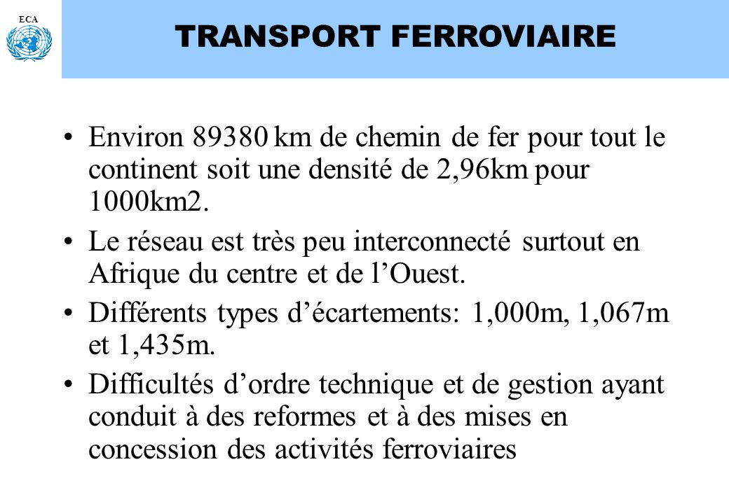 TRANSPORT FERROVIAIRE