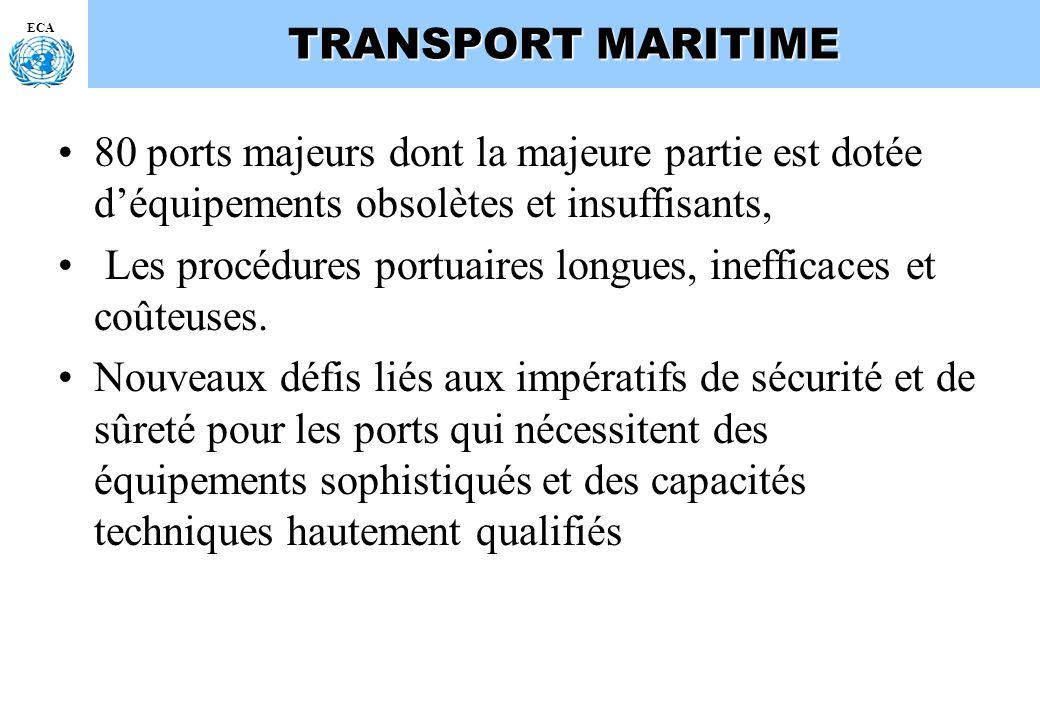 Les procédures portuaires longues, inefficaces et coûteuses.