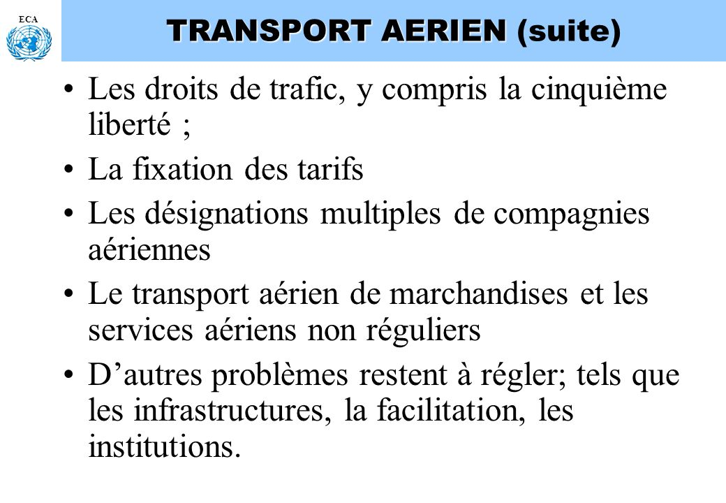 TRANSPORT AERIEN (suite)