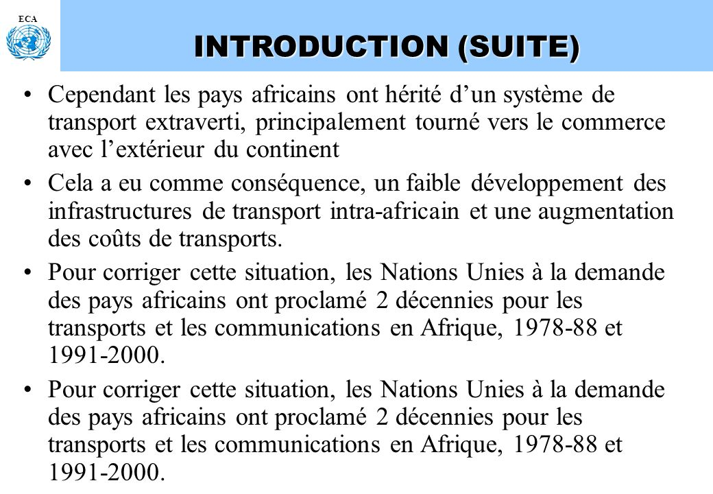 INTRODUCTION (SUITE) ECA.