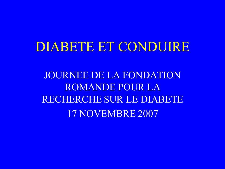 JOURNEE DE LA FONDATION ROMANDE POUR LA RECHERCHE SUR LE DIABETE