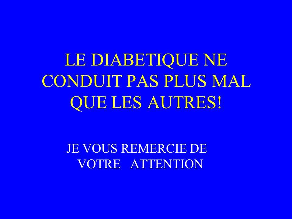 LE DIABETIQUE NE CONDUIT PAS PLUS MAL QUE LES AUTRES!