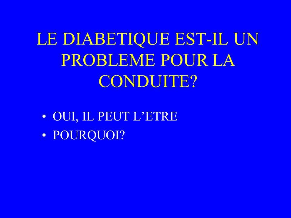 LE DIABETIQUE EST-IL UN PROBLEME POUR LA CONDUITE