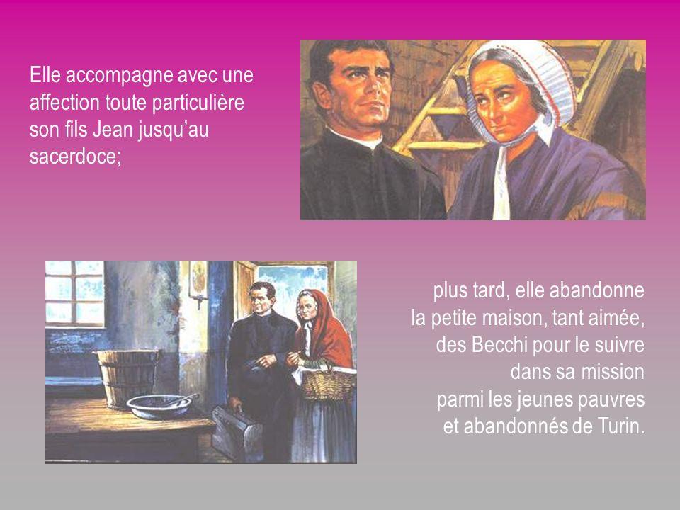 Elle accompagne avec une affection toute particulière son fils Jean jusqu'au sacerdoce;