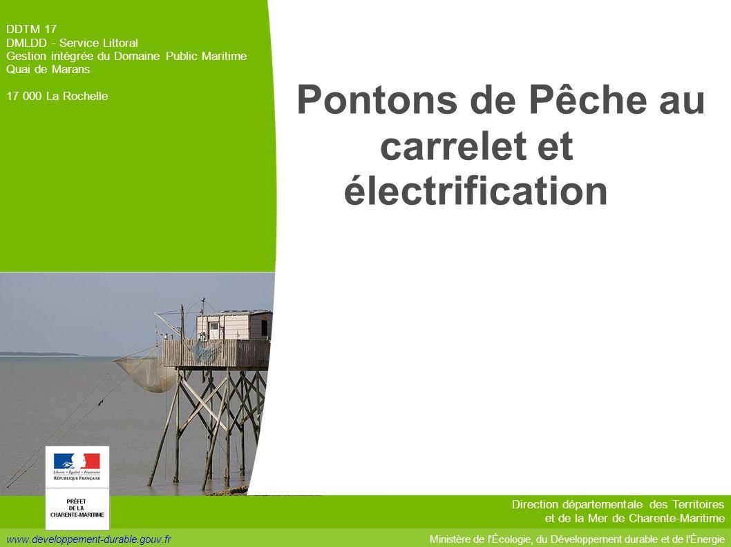Pontons de Pêche au carrelet et électrification
