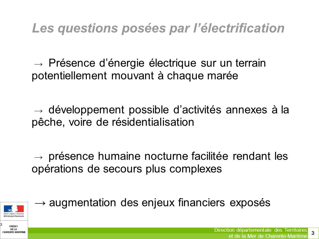 Les questions posées par l'électrification