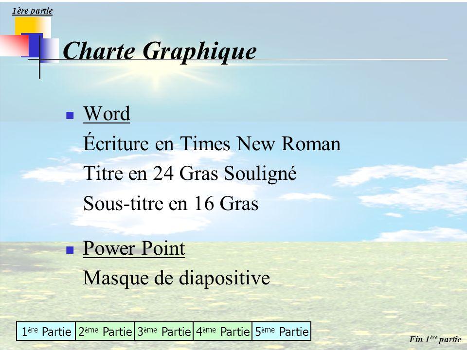 Charte Graphique Word Écriture en Times New Roman