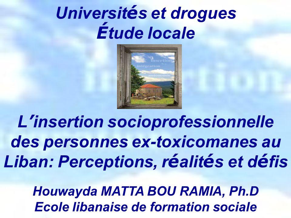 Universités et drogues Étude locale