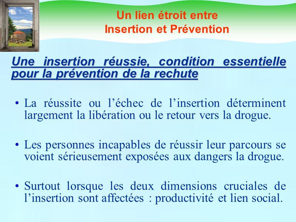 Un lien étroit entre Insertion et Prévention