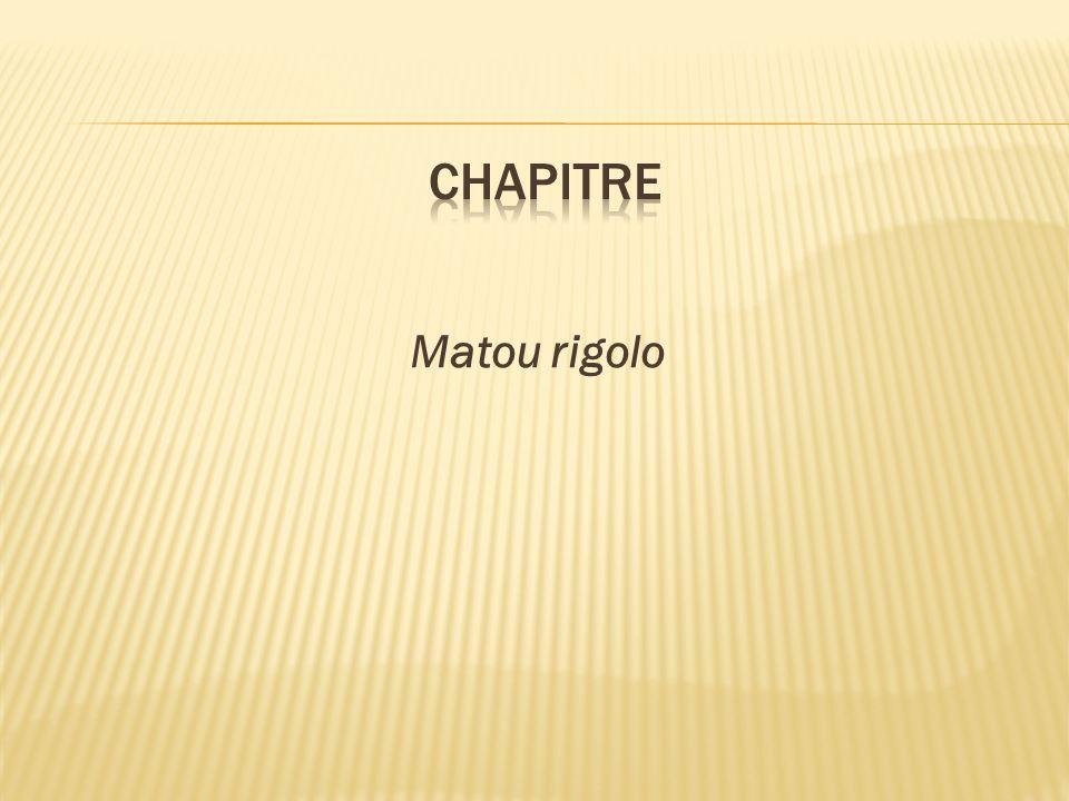 chapitre Matou rigolo