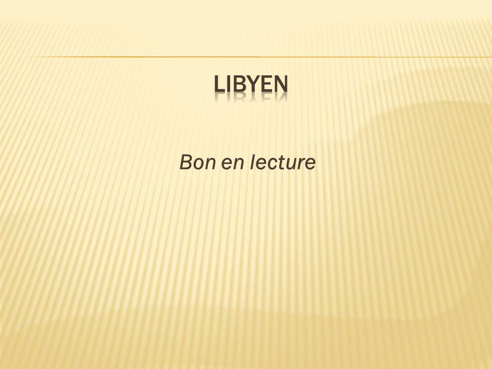 libyen Bon en lecture