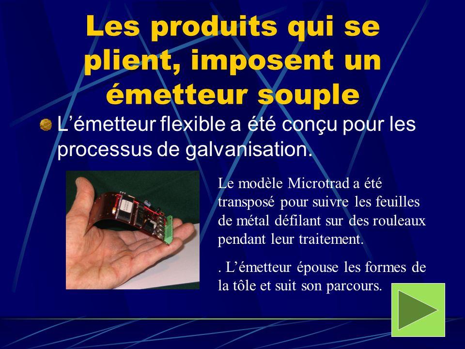 Les produits qui se plient, imposent un émetteur souple