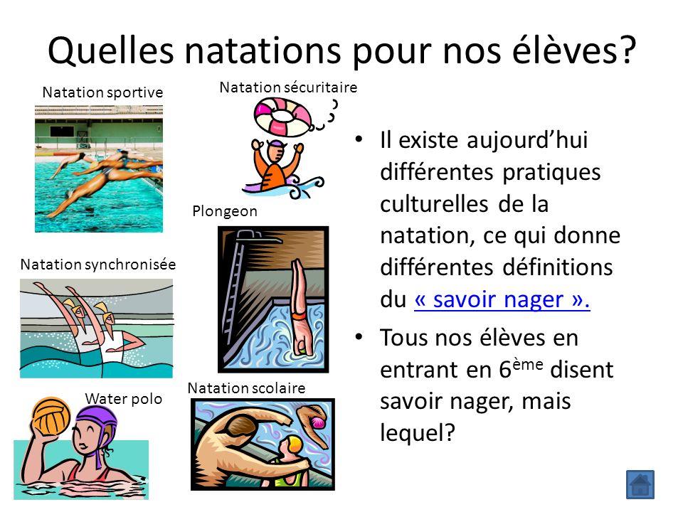 Quelles natations pour nos élèves