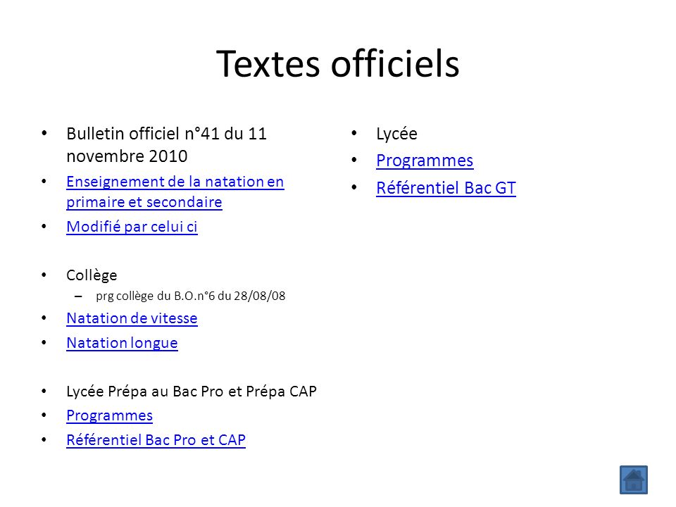 Textes officiels Bulletin officiel n°41 du 11 novembre 2010 Lycée