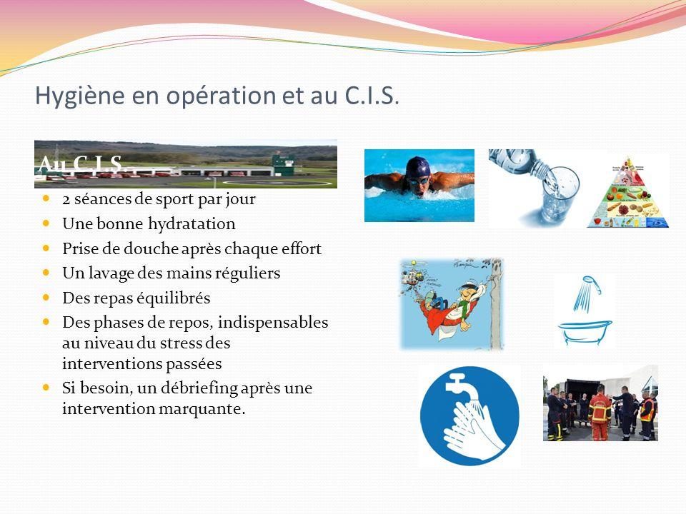 Hygiène en opération et au C.I.S.