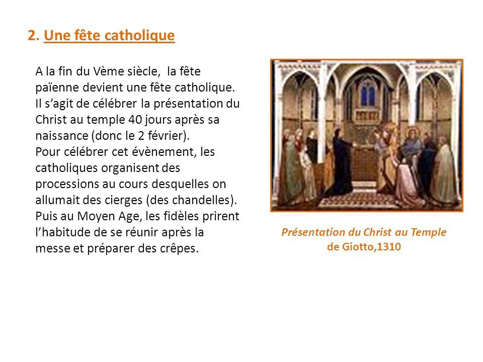 Présentation du Christ au Temple de Giotto,1310