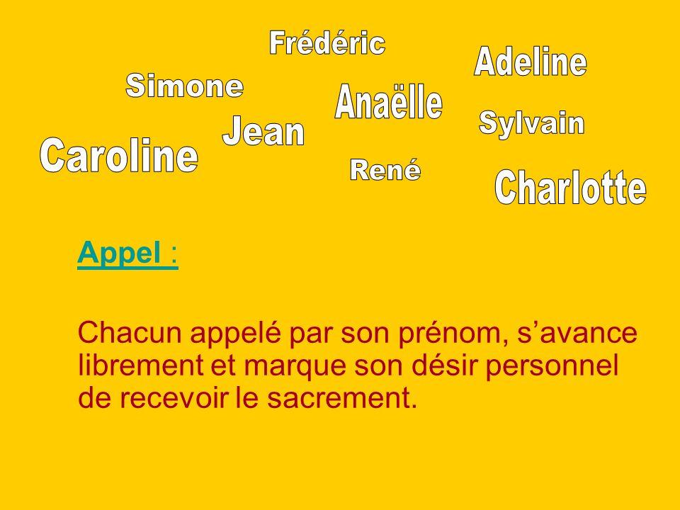 Frédéric Adeline Simone Anaëlle Sylvain Jean Caroline René Charlotte