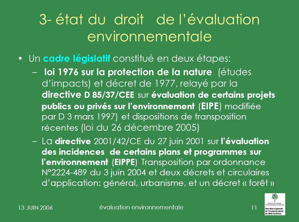 3- état du droit de l'évaluation environnementale