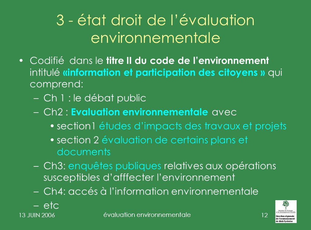 3 - état droit de l'évaluation environnementale