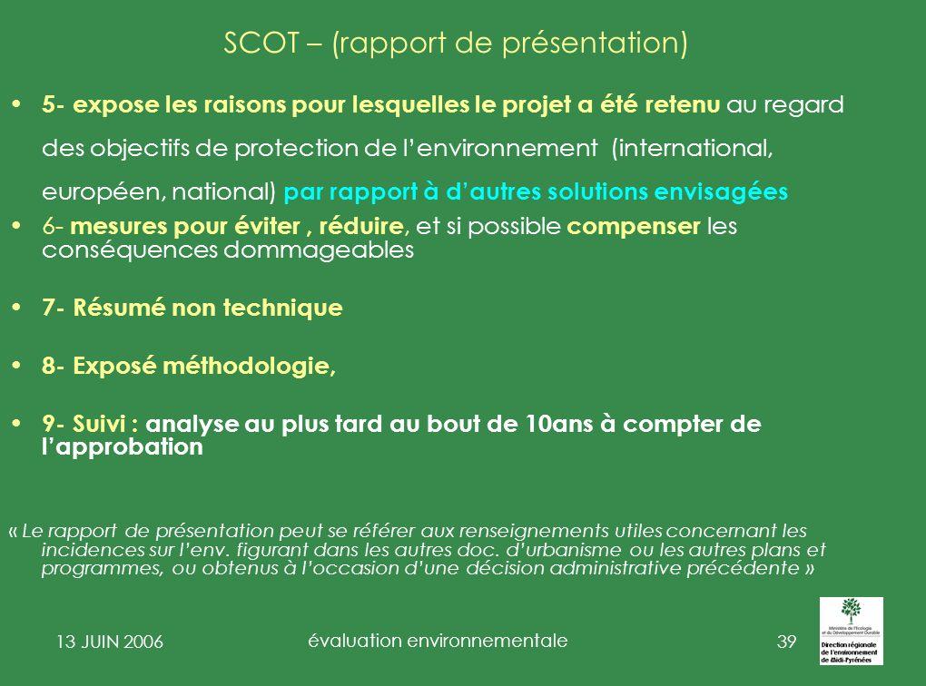 SCOT – (rapport de présentation)