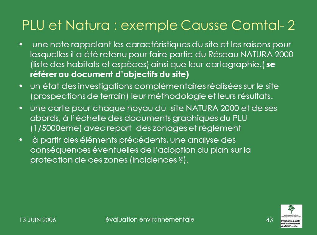 PLU et Natura : exemple Causse Comtal- 2