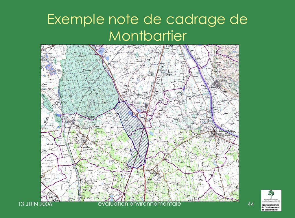 Exemple note de cadrage de Montbartier