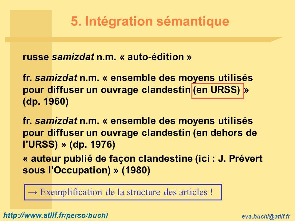 5. Intégration sémantique