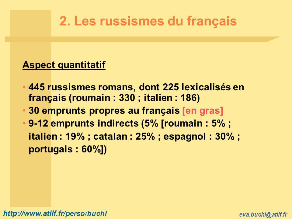 2. Les russismes du français