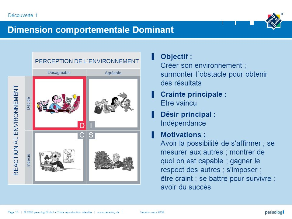 Dimension comportementale Dominant