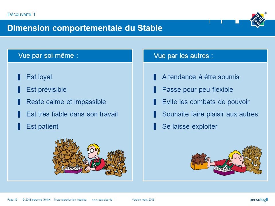 Dimension comportementale du Stable