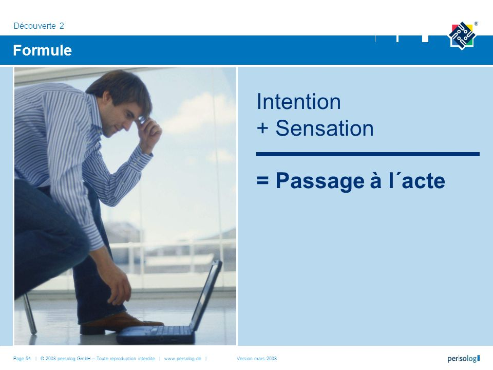 Intention + Sensation = Passage à l´acte