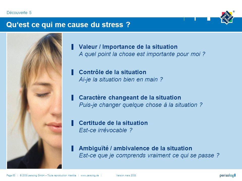 Qu'est ce qui me cause du stress