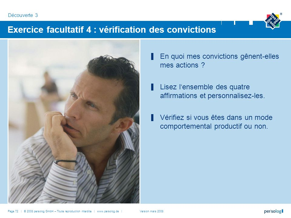 Exercice facultatif 4 : vérification des convictions