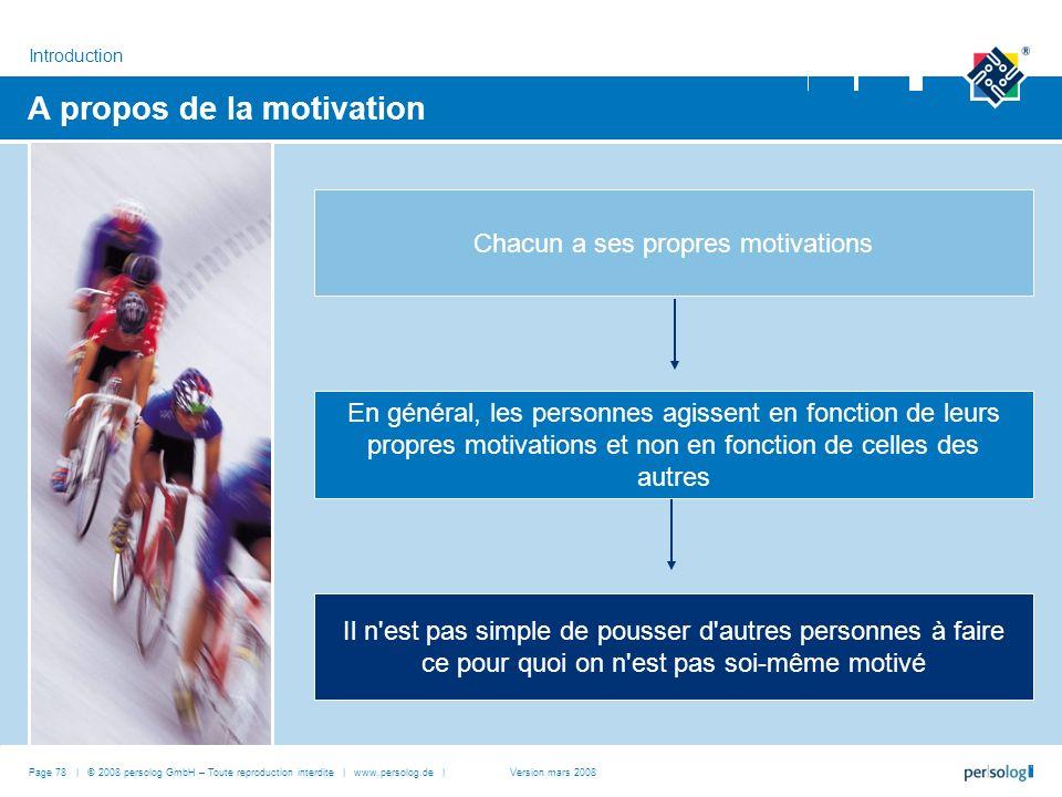 A propos de la motivation