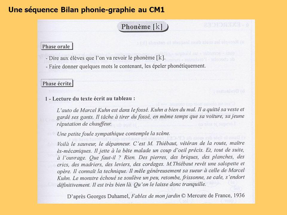 Une séquence Bilan phonie-graphie au CM1
