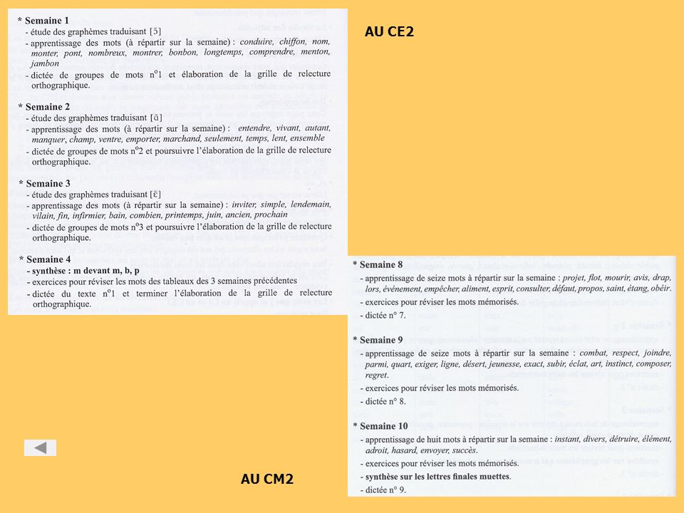 AU CE2 AU CM2