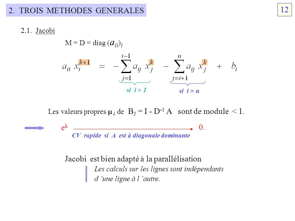2. TROIS METHODES GENERALES 12