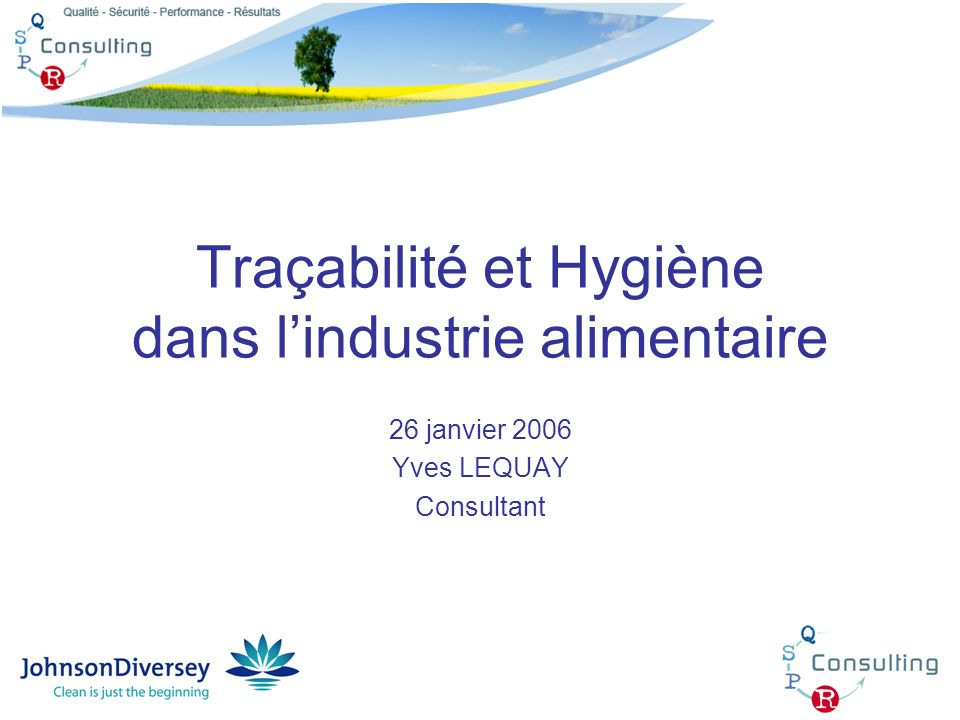 Traçabilité et Hygiène dans l'industrie alimentaire