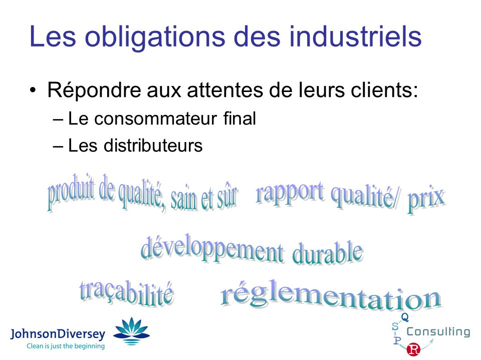 Les obligations des industriels