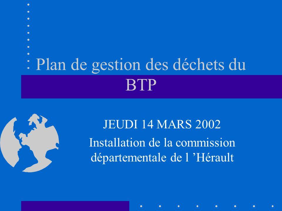 Plan de gestion des déchets du BTP