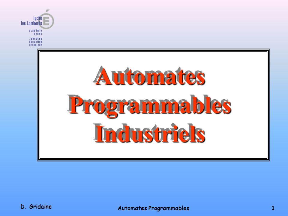 Automates Programmables Industriels Automates Programmables