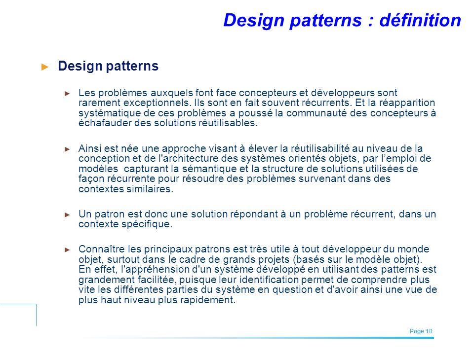 Design patterns : définition