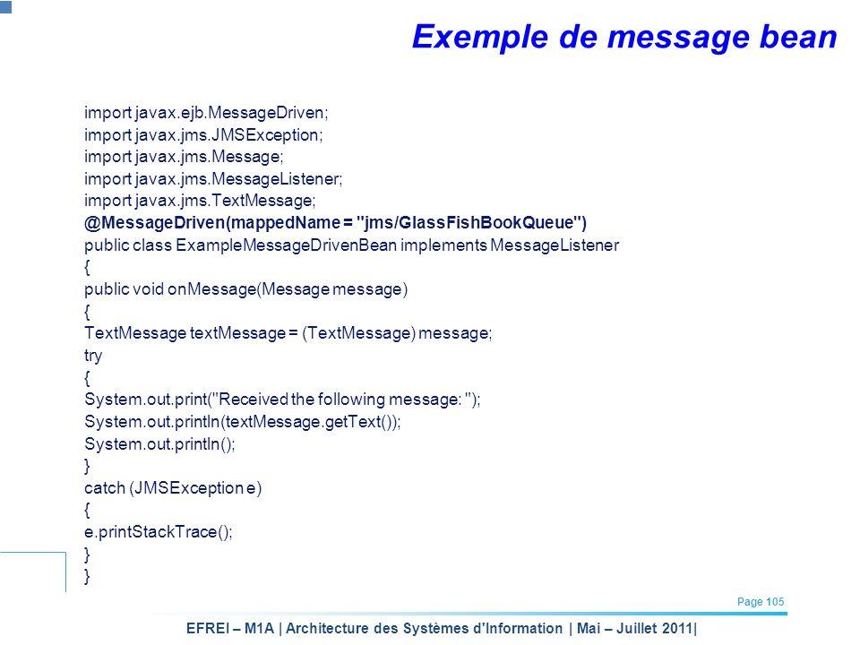 Exemple de message bean