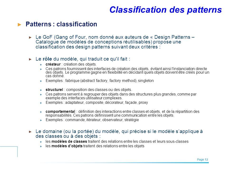 Classification des patterns